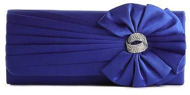Townsend Lulu Satin Pleated Flap Clutch