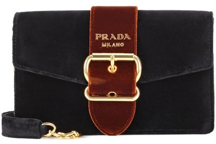 prada Prada Velvet shoulder bag