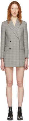 Calvin Klein Black and White Plaid Short Blazer Dress