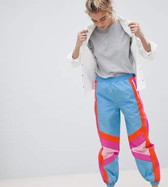 Asos DESIGN color block Shell jogger pants