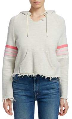 Mother Square Tear Striped Hoodie