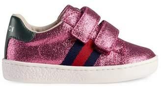 Gucci Toddler Ace glitter sneaker
