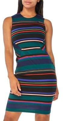 Dorothy Perkins Striped Crew Pencil Dress