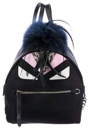 Fendi Fox-Trimmed Mohawk Monster Backpack