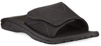 OluKai Men's Nalu Grip-Strap Slide Sandals, Black
