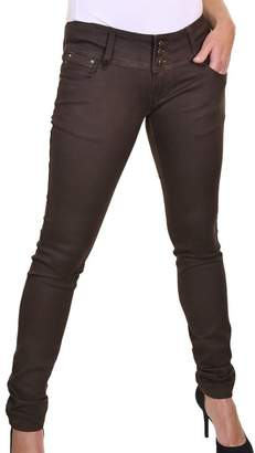 Ice 1519-1) Good Stretch Super Skinny Ultra Low Rise Jeans