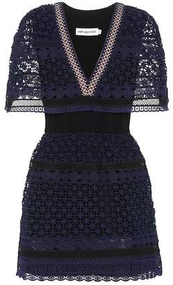 Self-Portrait Guipure lace mini-dress