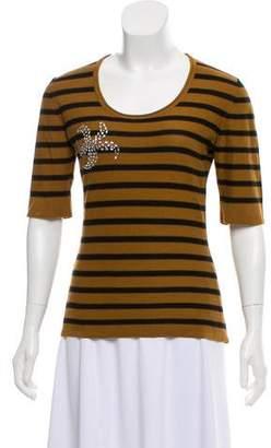 Sonia Rykiel Embellished Striped Sweatshirt