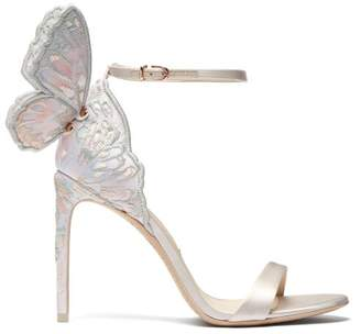 Sophia Webster Chiara Butterfly Wing Leather Stiletto Sandals - Womens - White Multi