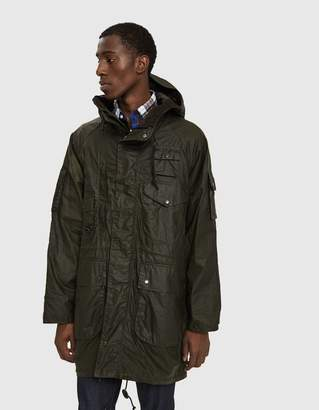 Engineered Garments Barbour Zip Parka in Archive Olive