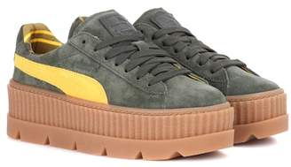 Rihanna Fenty by Creeper suede sneakers