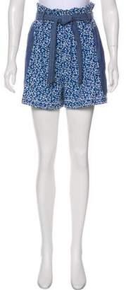 Ulla Johnson Chambray Mini Shorts