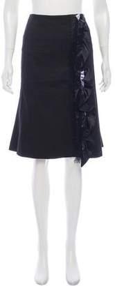 Dolce & Gabbana Ruffle/Silk- Accented Skirt
