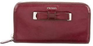 pradaPrada Nappa Bow Wallet