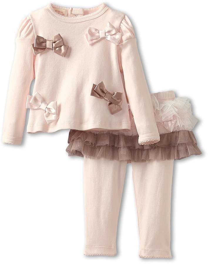 Biscotti Neapolitan Treat Infant Top Tutu Legging (Newborn) (Pink) Girl's Sets