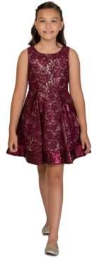 Bonnie Jean Big Girls Sequin Lace Skater Dress