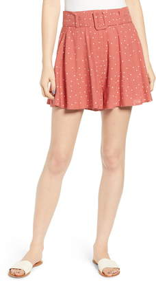Moon River Belted Wide Leg Shorts