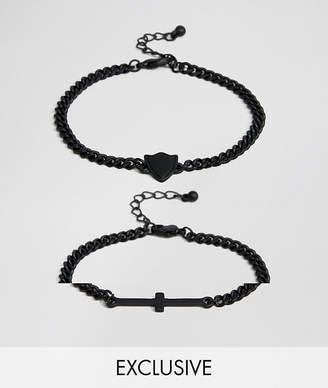 Reclaimed Vintage Inspired Cross Bracelet In 2 Pack Exclusive To ASOS