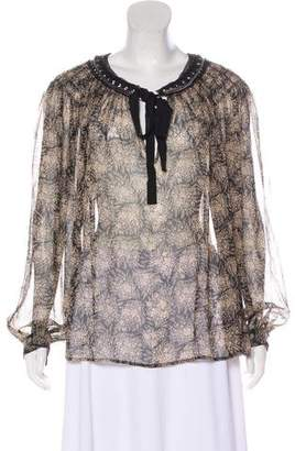 3.1 Phillip Lim Embroidered Silk Blouse