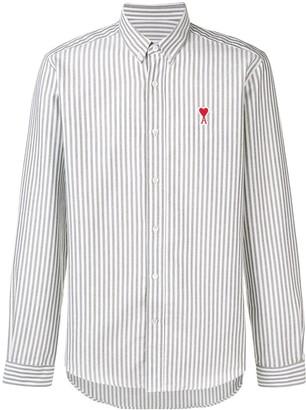 Ami Paris Button-Down Shirt De Coeur Patch