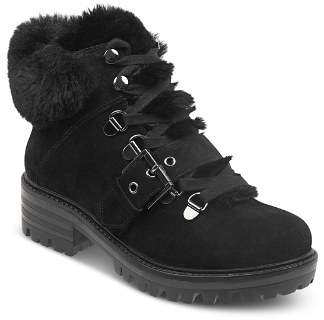 KENDALL + KYLIE Women's Edison Round Toe Suede Hiking Boots