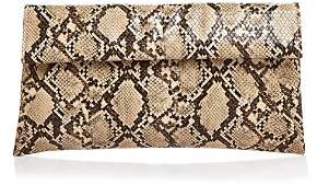Aqua Snake-Embossed Foldover Clutch - 100% Exclusive