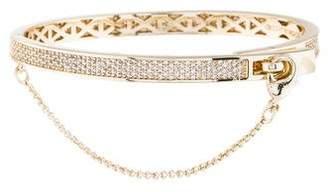 Eddie Borgo Extra Thin Pavé Safety Chain Hinge Bracelet