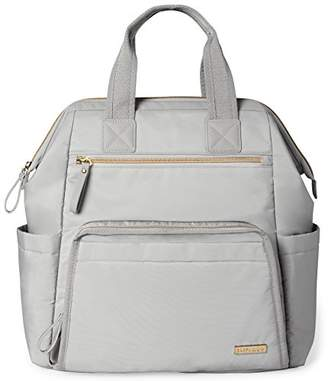 Skip Hop Main Frame Wide Open Backpack, Cement