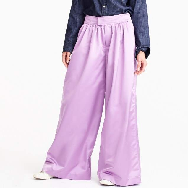 Collection pleated ultrawide-leg pant
