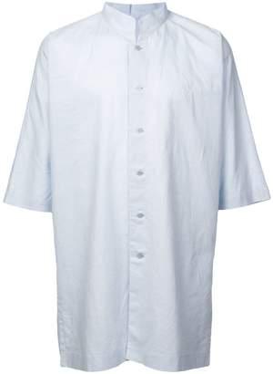 Issey Miyake Homme Plissé short-sleeve oversized shirt