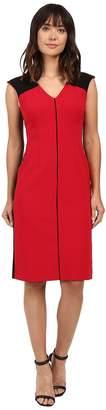 Ellen Tracy Color Block Piped Sheath Women's Dress