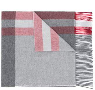Bally fringed check scarf