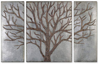 Uttermost 3-Pc. Winter View Rustic Tree Wall Art Set
