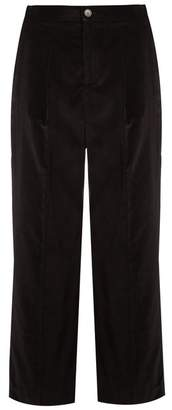 A.P.C. Amalfi cropped cotton-velvet trousers