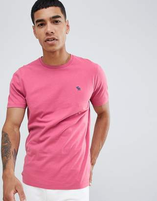 Abercrombie & Fitch pop icon logo t-shirt in bright pink