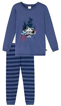 Schiesser Boy's 159585 Pyjama Set, (Blau 800)
