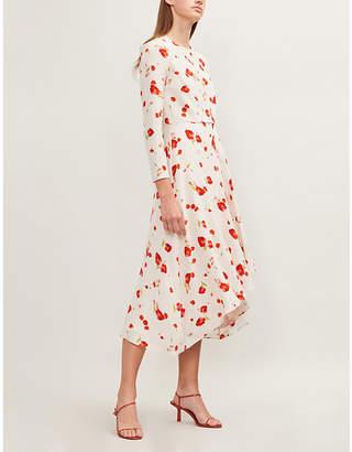 Vilshenko Ramona floral-print silk-crepe dress