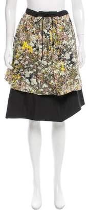 Cacharel Tiered Knee-Length Skirt