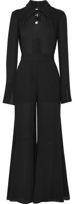 McQ Alexander McQueen - Cutout Chiffon Jumpsuit - Black $830 thestylecure.com
