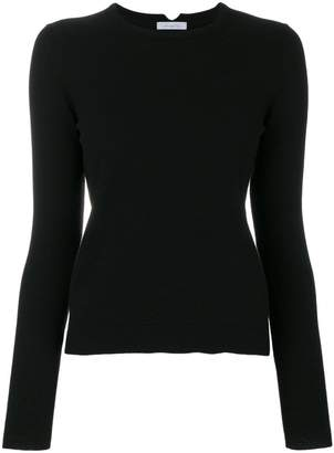 Malo ribbed round neck jumper