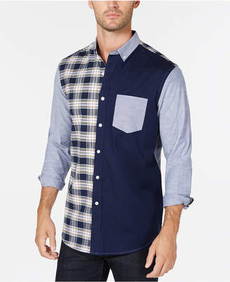 Club Room Men's Colorblocked Shirt, Created for Macy's