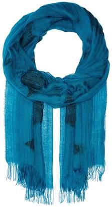 Eileen Fisher Tencel Organic Cotton Diamond Scarf Scarves