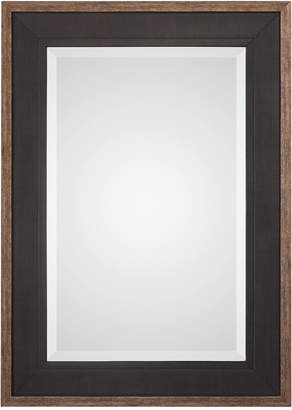 Uttermost Staveley Rustic Black-Framed Mirror