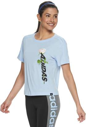 adidas Women's Floral Graphic Cropped Tee