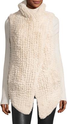 Neiman Marcus Faux-Fur Cascade Vest, Beige $121.10 thestylecure.com