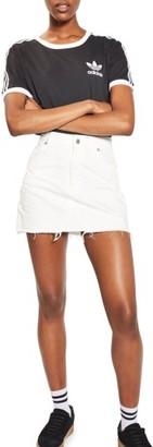 Topshop Women's High Waist Denim Miniskirt