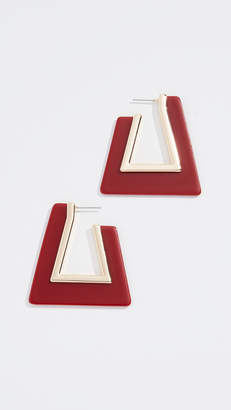 Rebecca Minkoff Triangle Resin Hoop Earrings