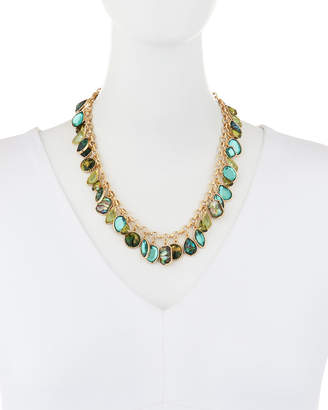 Lydell NYC Mixed-Shaped Crystal Necklace