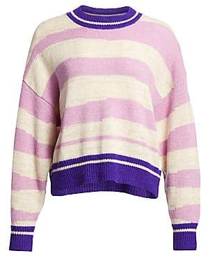 Etoile Isabel Marant Women's Glowy Striped Crewneck Sweater