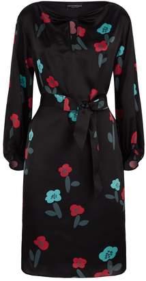 Emporio Armani Belted Silk Dress
